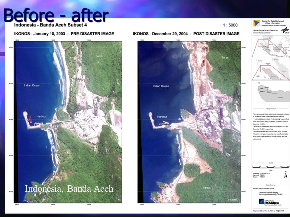 Before - after Indonesia, Banda Aceh