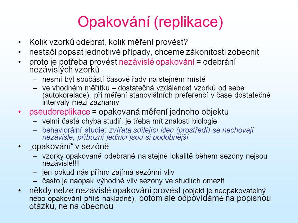 Opakování (replikace)