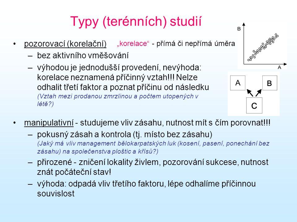Typy (terénních) studií