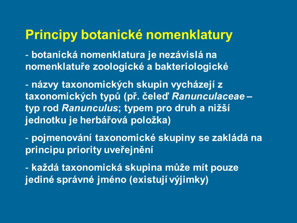 Principy botanické nomenklatury