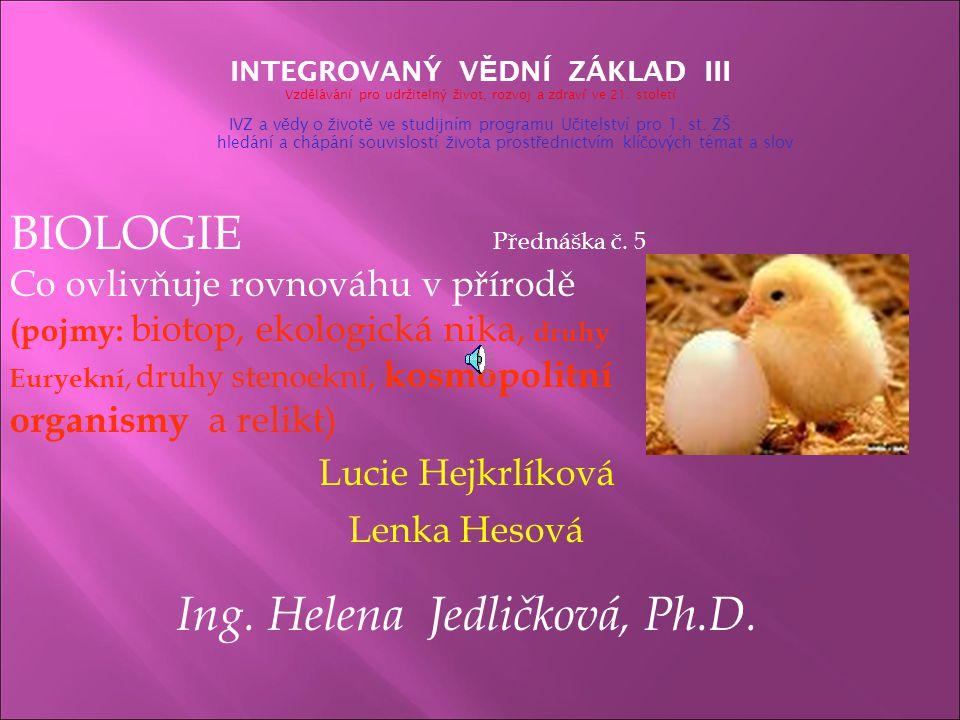 Ing. Helena Jedličková, Ph.D.