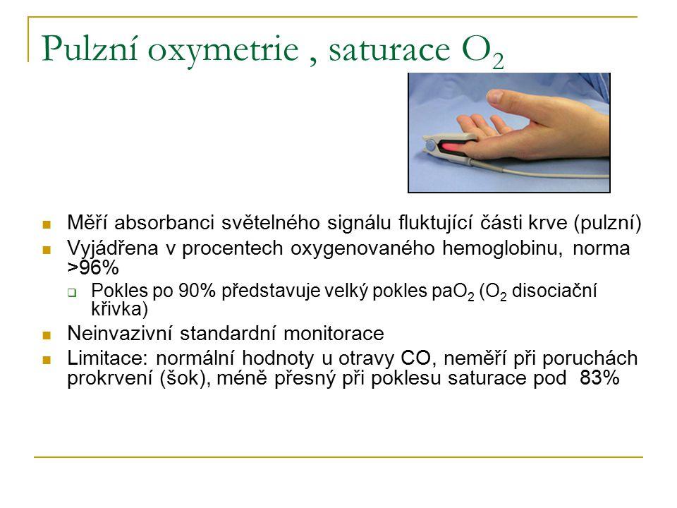 Pulzní oxymetrie , saturace O2