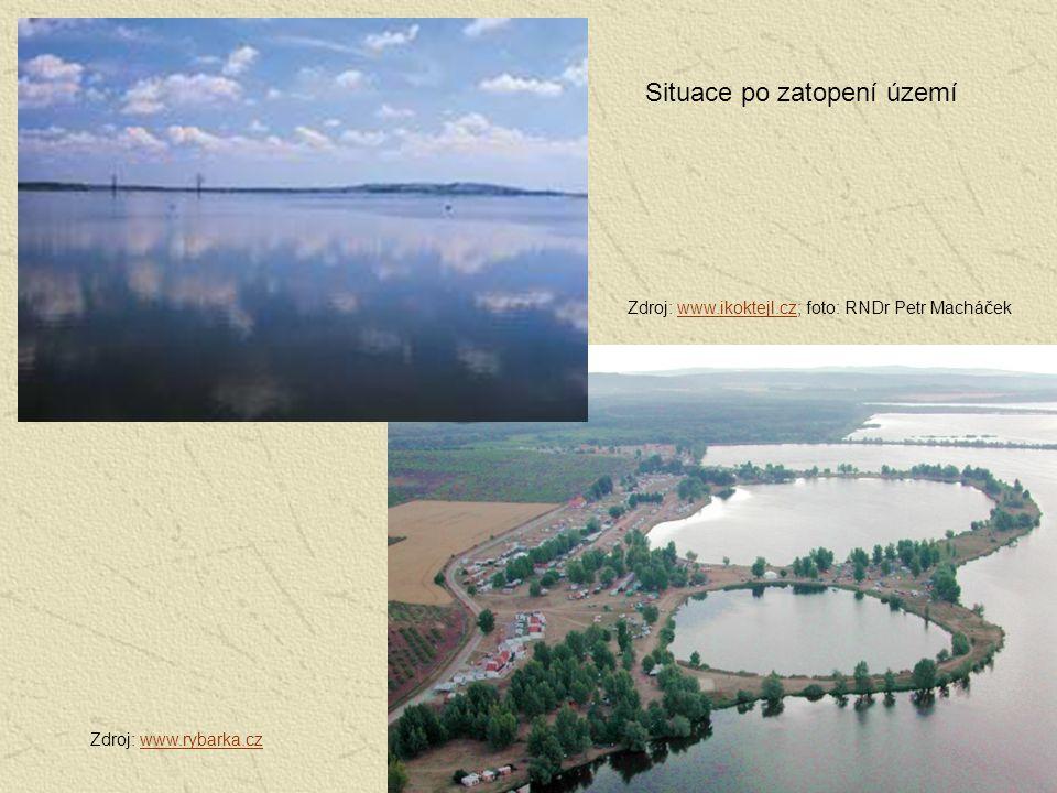 Situace po zatopení území