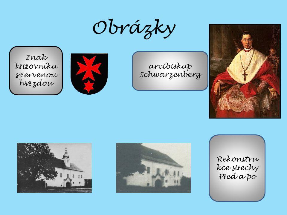 Obrázky Znak křižovníku s červenou hvězdou arcibiskup Schwarzenberg