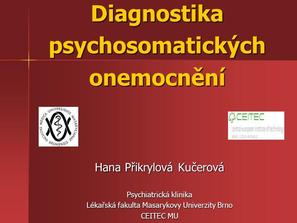 Diagnostika psychosomatických onemocnění
