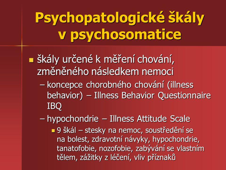 Psychopatologické škály v psychosomatice