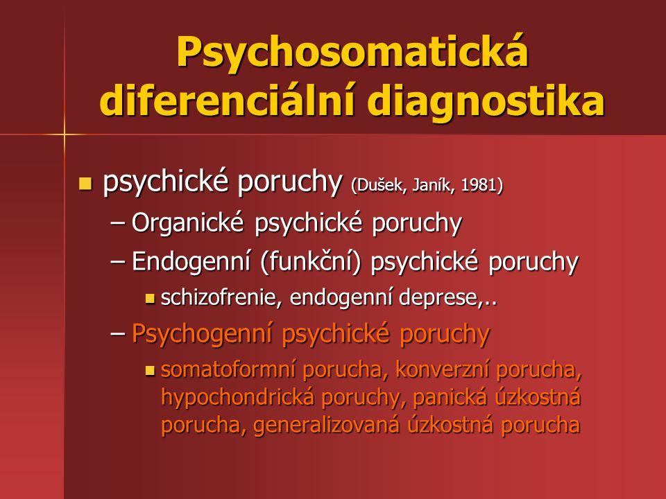 Psychosomatická diferenciální diagnostika