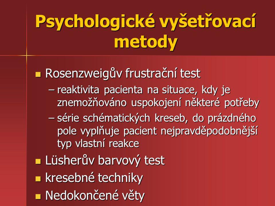 Psychologické vyšetřovací metody
