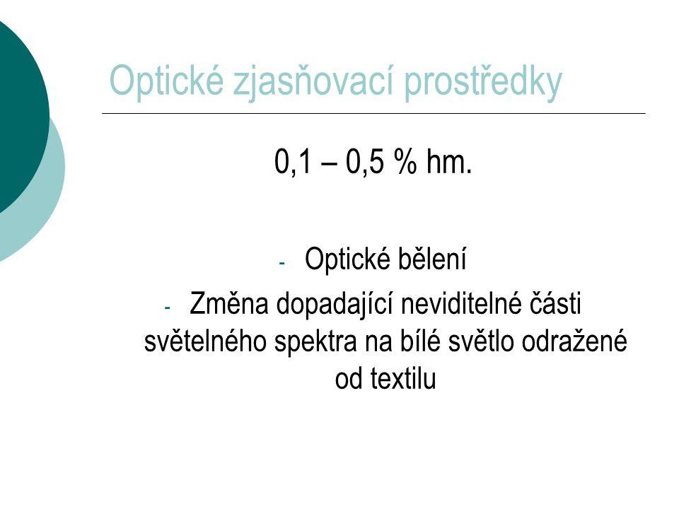 Optické zjasňovací prostředky