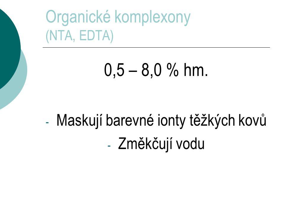 Organické komplexony (NTA, EDTA)