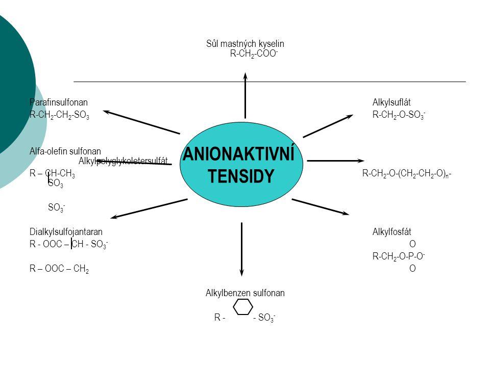 Sůl mastných kyselin R-CH2-COO-