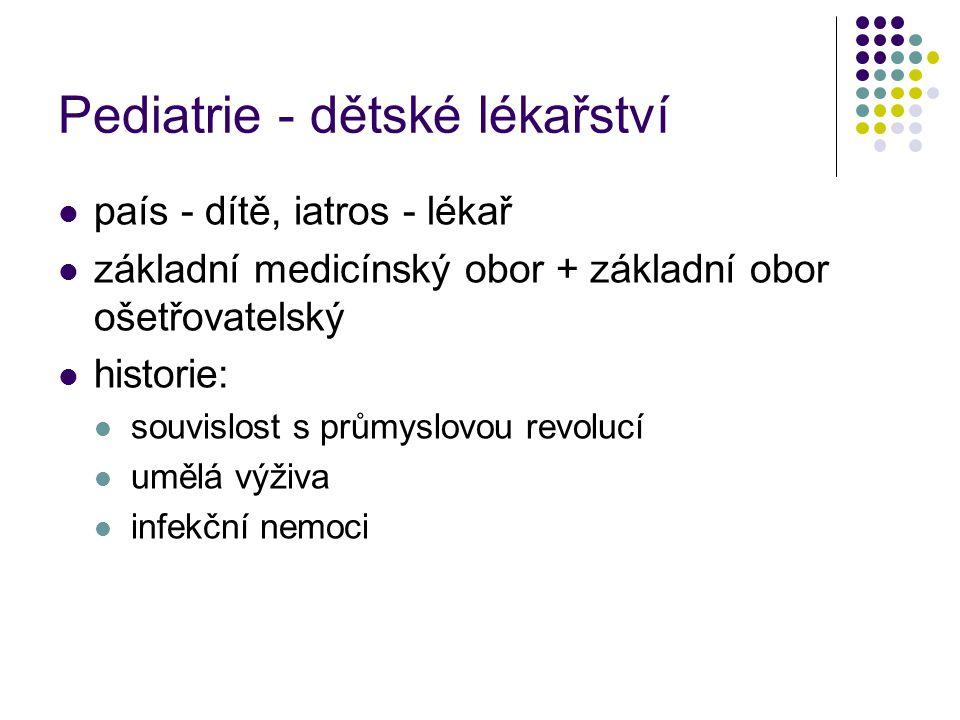 Pediatrie - dětské lékařství