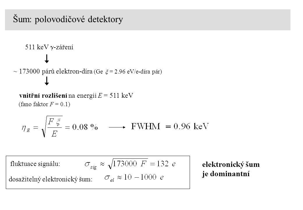 Šum: polovodičové detektory