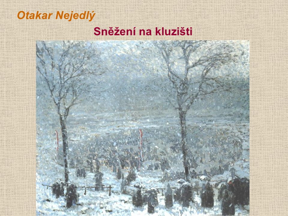 Otakar Nejedlý Sněžení na kluzišti