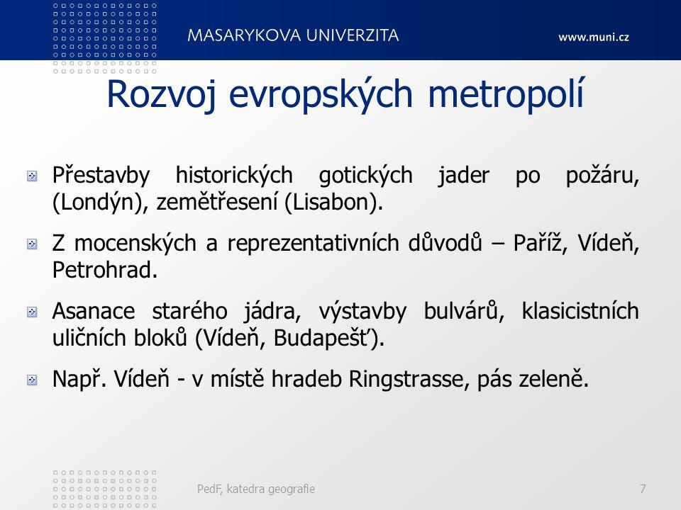 Rozvoj evropských metropolí