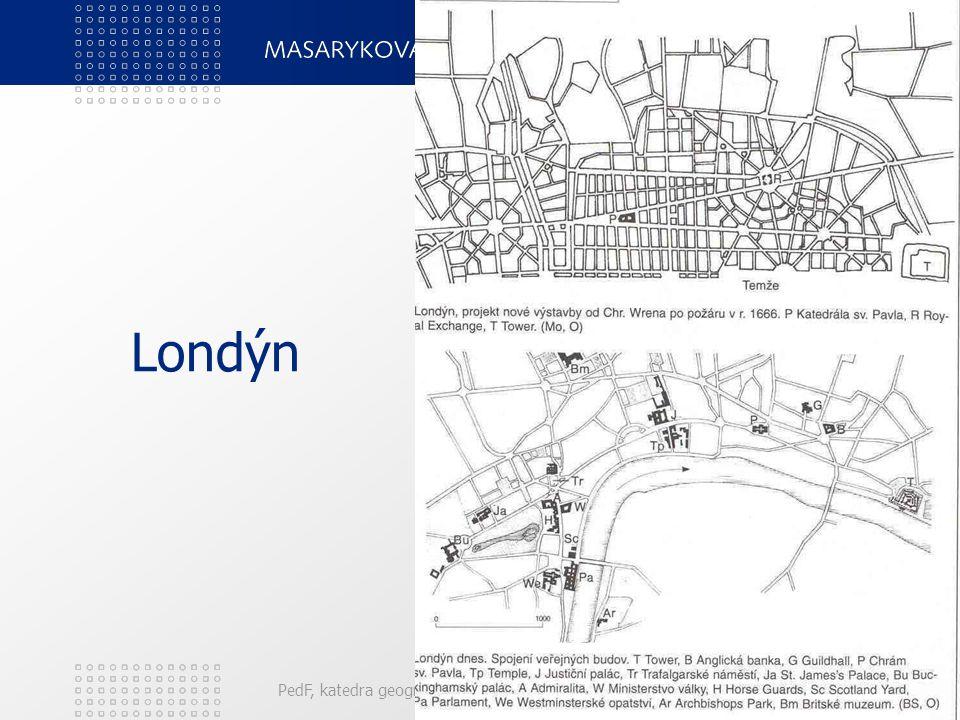 Londýn PedF, katedra geografie