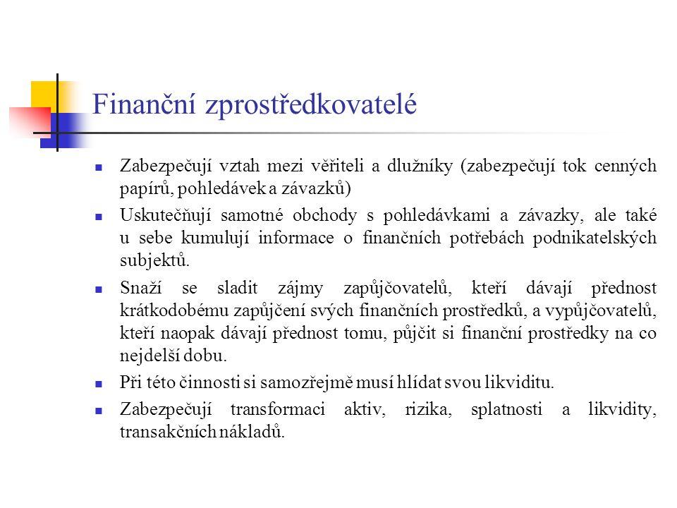 Finanční zprostředkovatelé