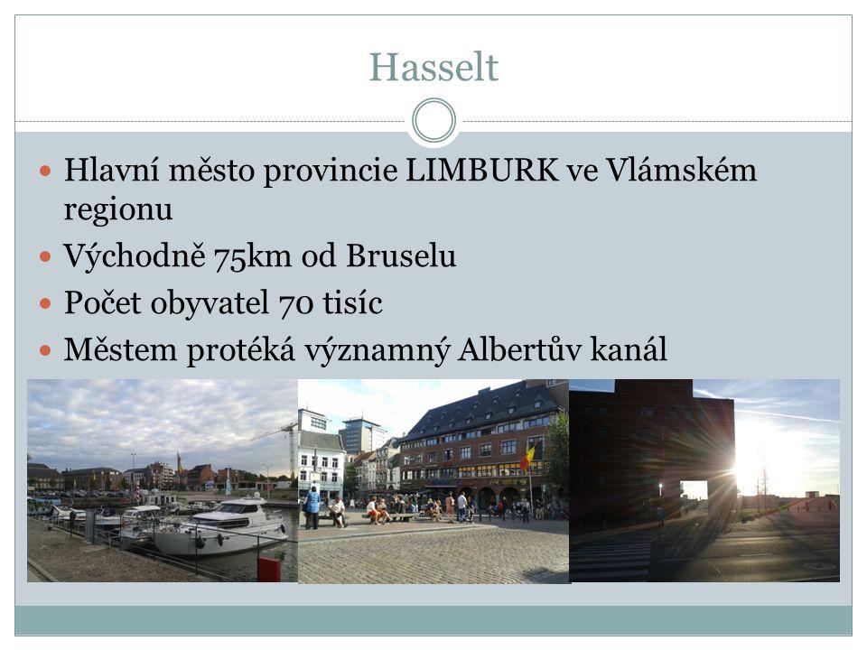 Hasselt Hlavní město provincie LIMBURK ve Vlámském regionu