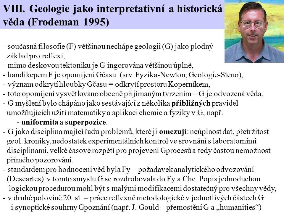 VIII. Geologie jako interpretativní a historická věda (Frodeman 1995)