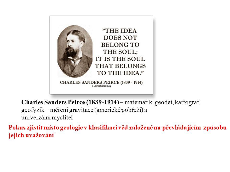 Charles Sanders Peirce (1839-1914) – matematik, geodet, kartograf,
