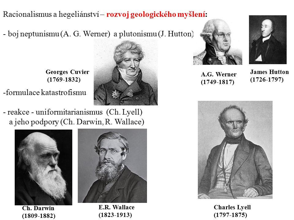 Racionalismus a hegeliánství – rozvoj geologického myšlení: