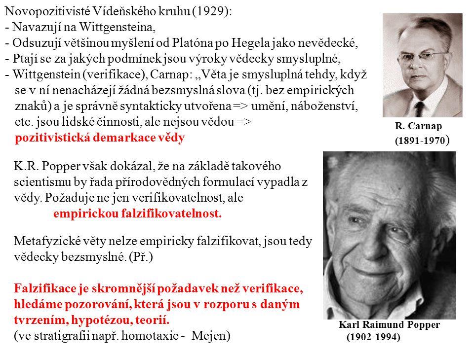Novopozitivisté Vídeňského kruhu (1929): - Navazují na Wittgensteina,