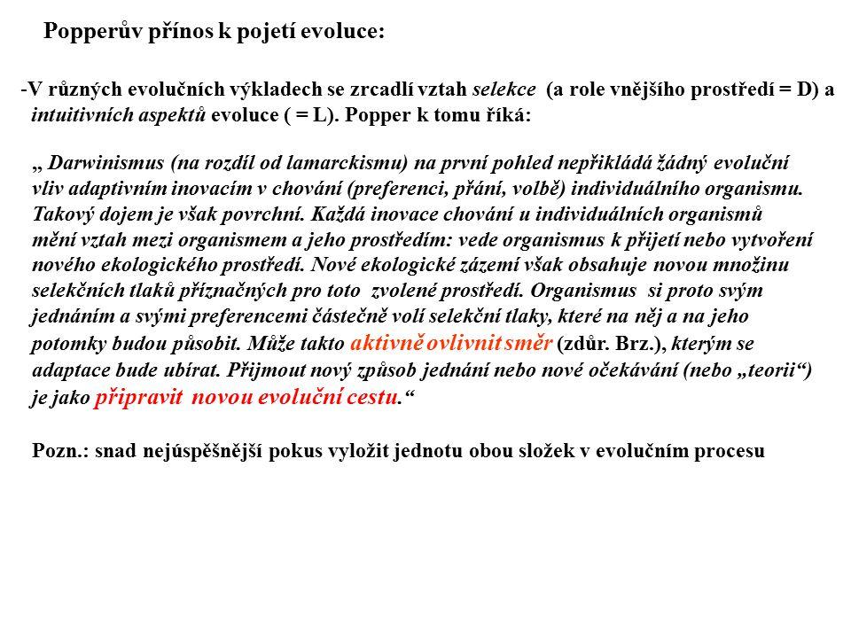 Popperův přínos k pojetí evoluce: