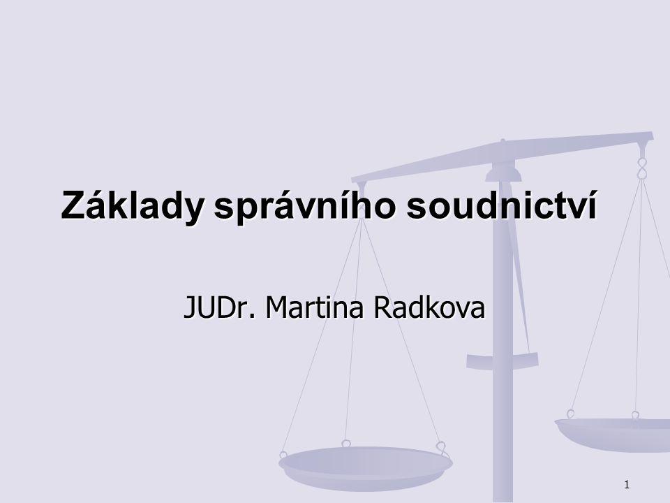 Základy správního soudnictví