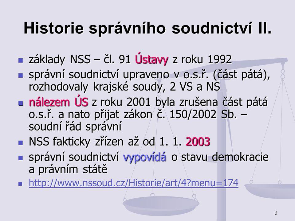 Historie správního soudnictví II.