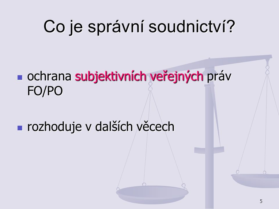 Co je správní soudnictví