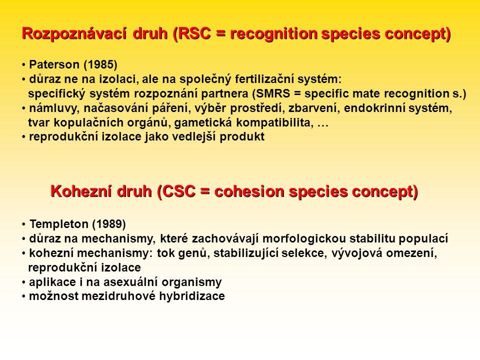 Rozpoznávací druh (RSC = recognition species concept)