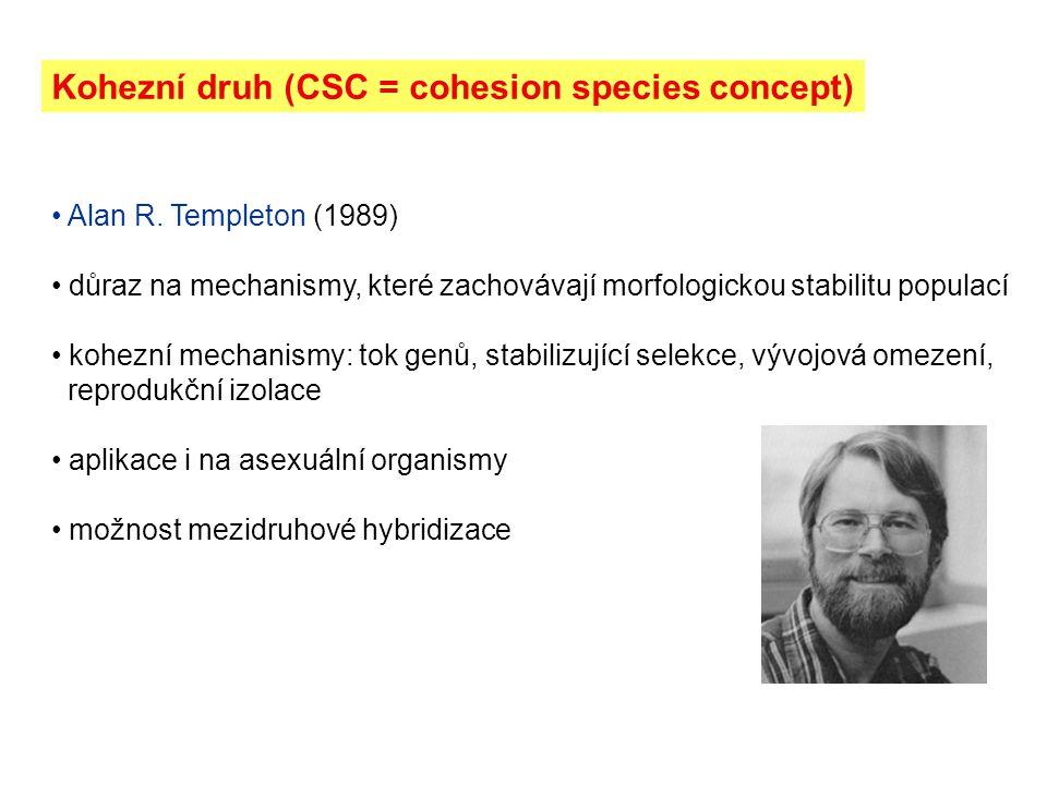 Kohezní druh (CSC = cohesion species concept)