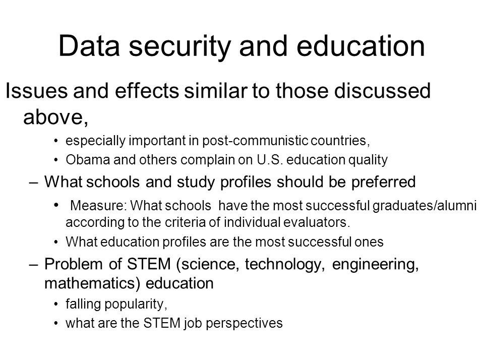 Data security and education