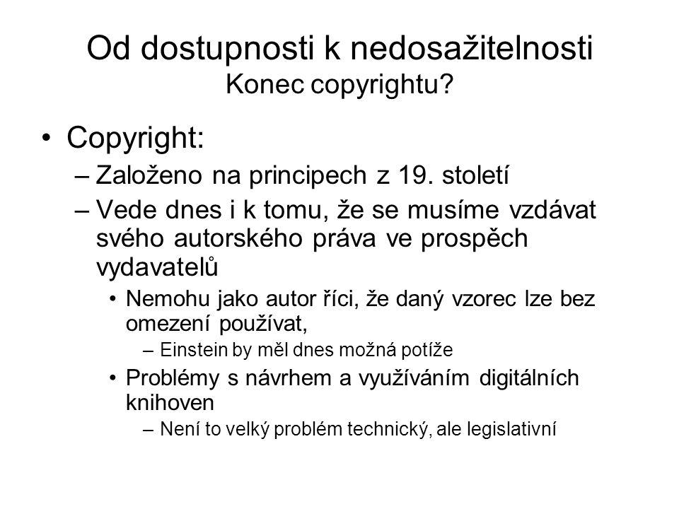 Od dostupnosti k nedosažitelnosti Konec copyrightu