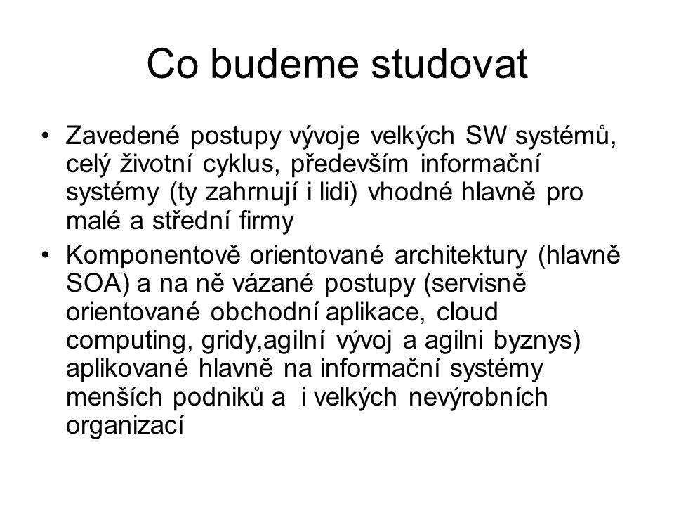 Co budeme studovat