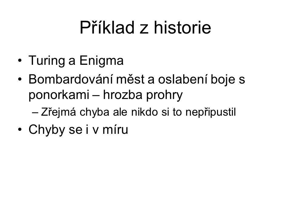 Příklad z historie Turing a Enigma