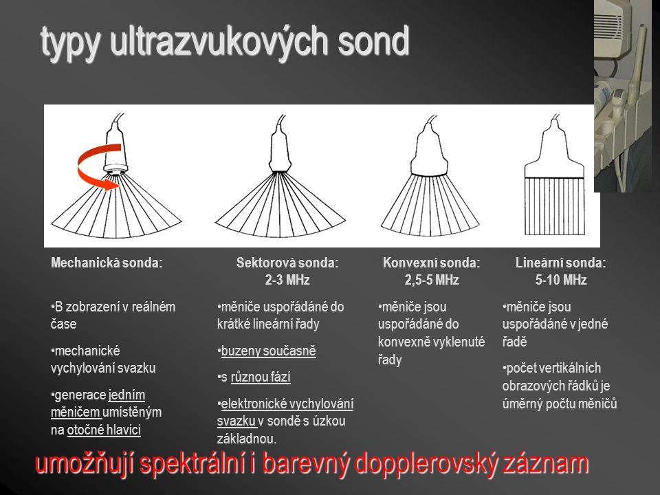 typy ultrazvukových sond