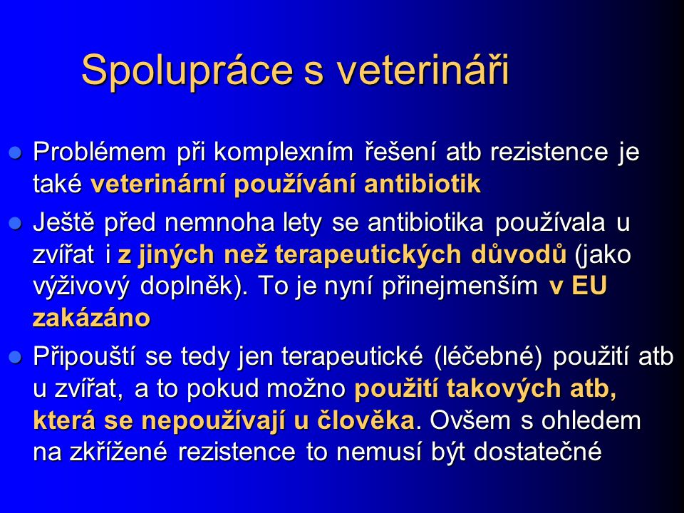 Spolupráce s veterináři