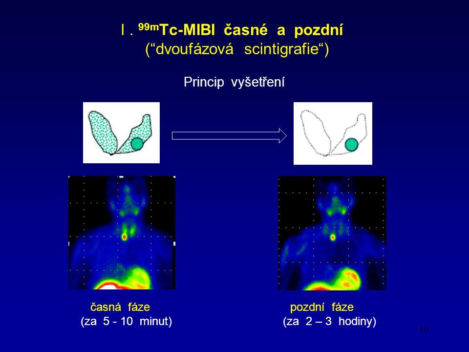 I . 99mTc-MIBI časné a pozdní ( dvoufázová scintigrafie )