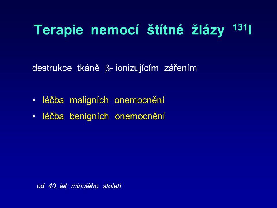 Terapie nemocí štítné žlázy 131I