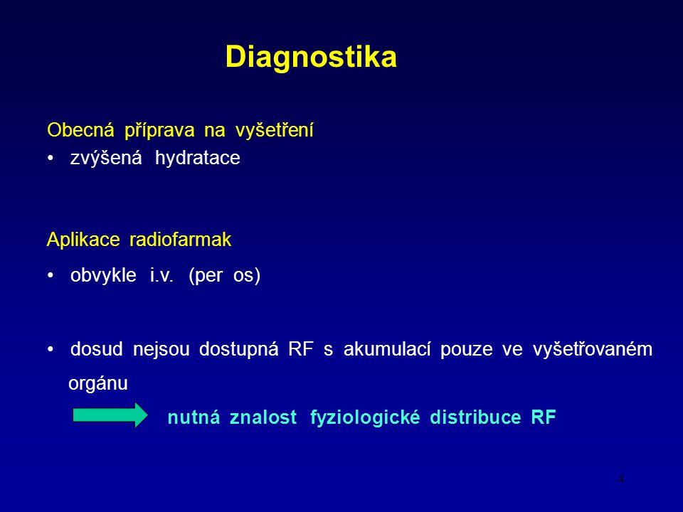 Diagnostika Obecná příprava na vyšetření zvýšená hydratace