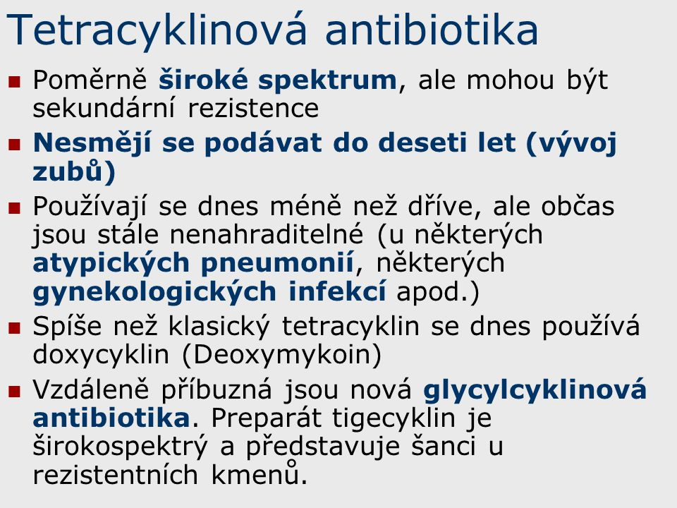 Tetracyklinová antibiotika