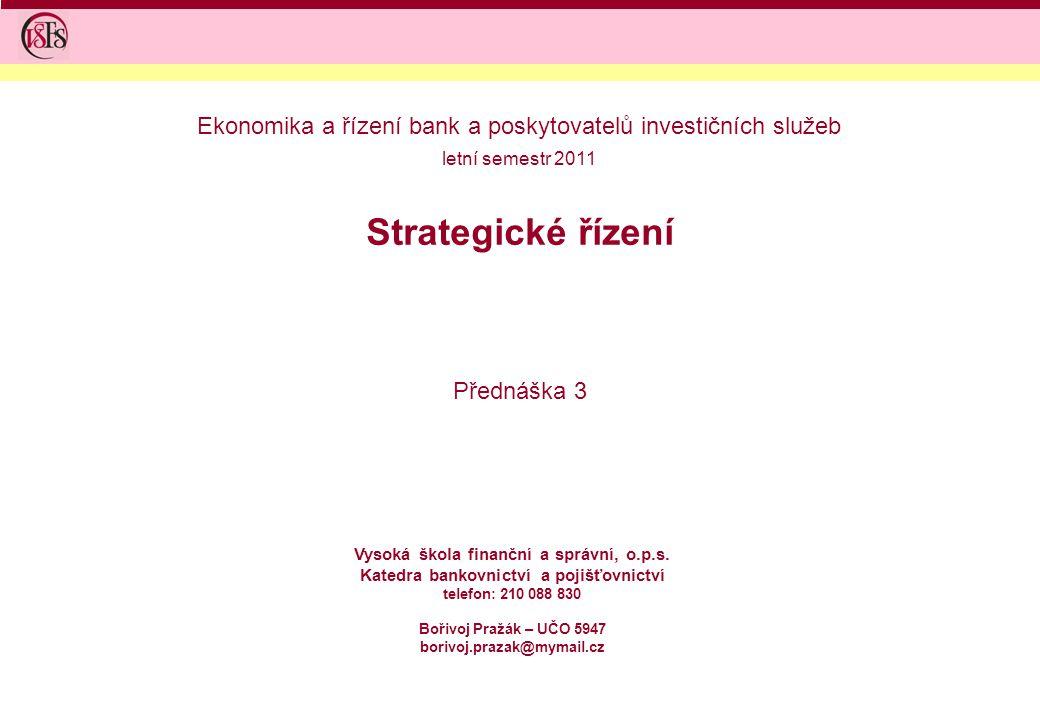 Ekonomika a řízení bank a poskytovatelů investičních služeb