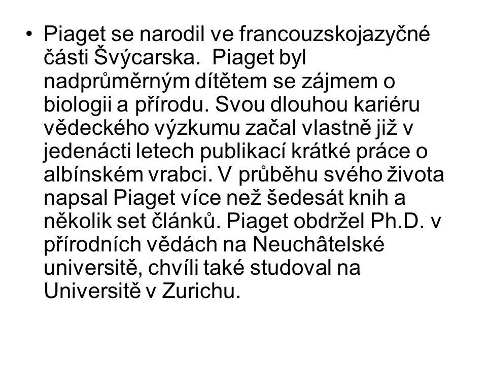 Piaget se narodil ve francouzskojazyčné části Švýcarska