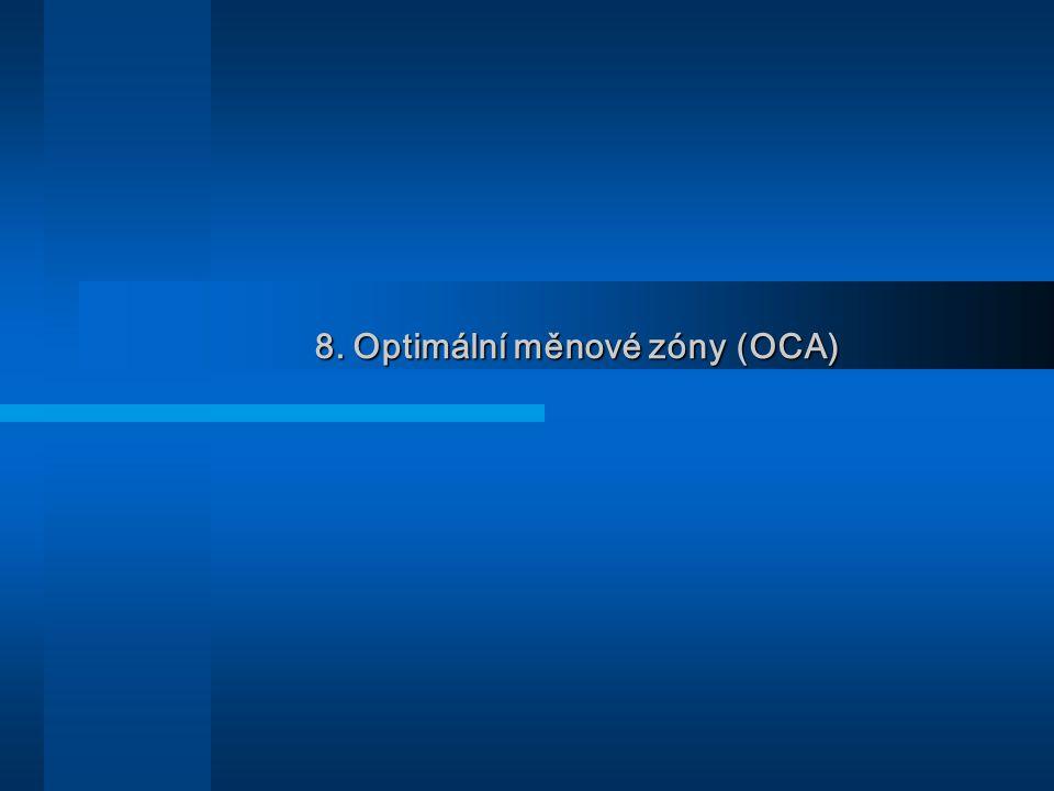 8. Optimální měnové zóny (OCA)