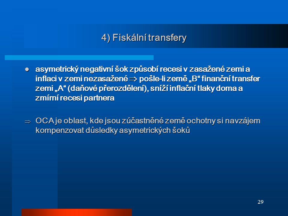 4) Fiskální transfery