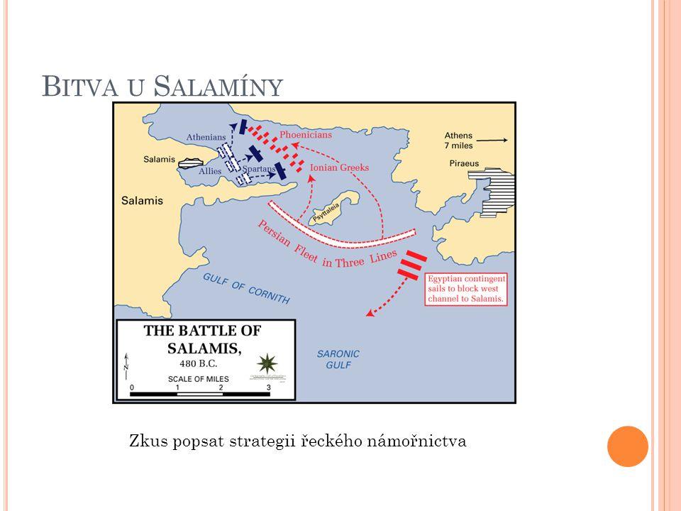 Bitva u Salamíny Zkus popsat strategii řeckého námořnictva