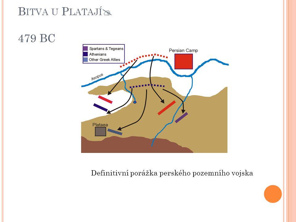 Bitva u Platají 479 BC Definitivní porážka perského pozemního vojska