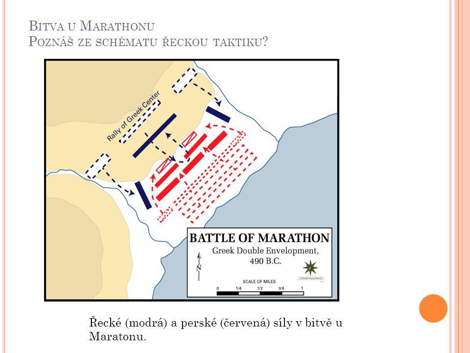 Bitva u Marathonu Poznáš ze schématu řeckou taktiku
