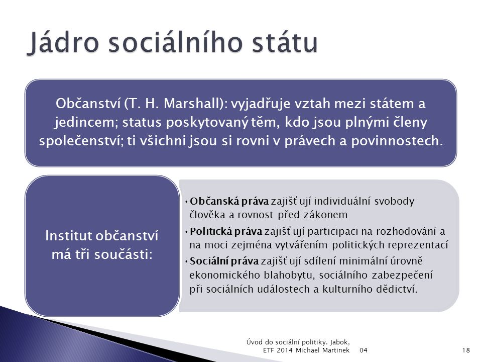 Jádro sociálního státu